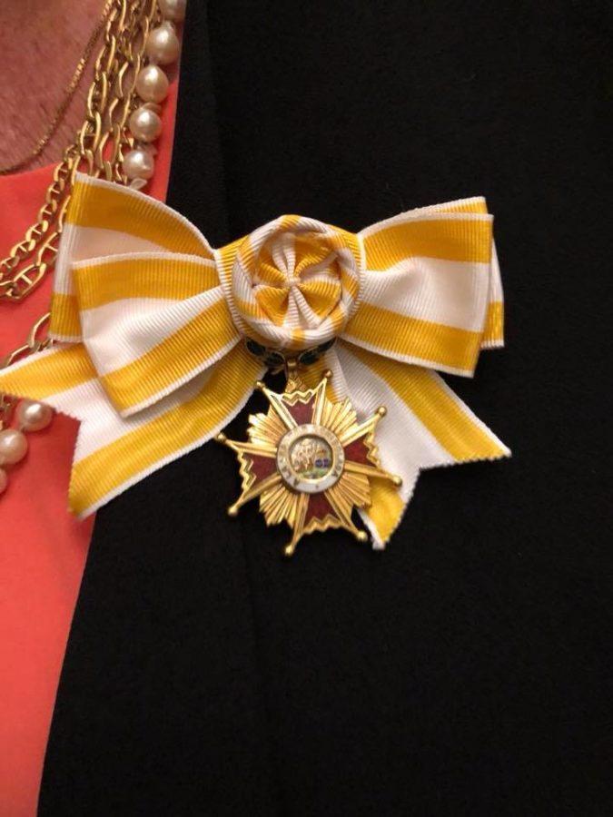 Pinned medal