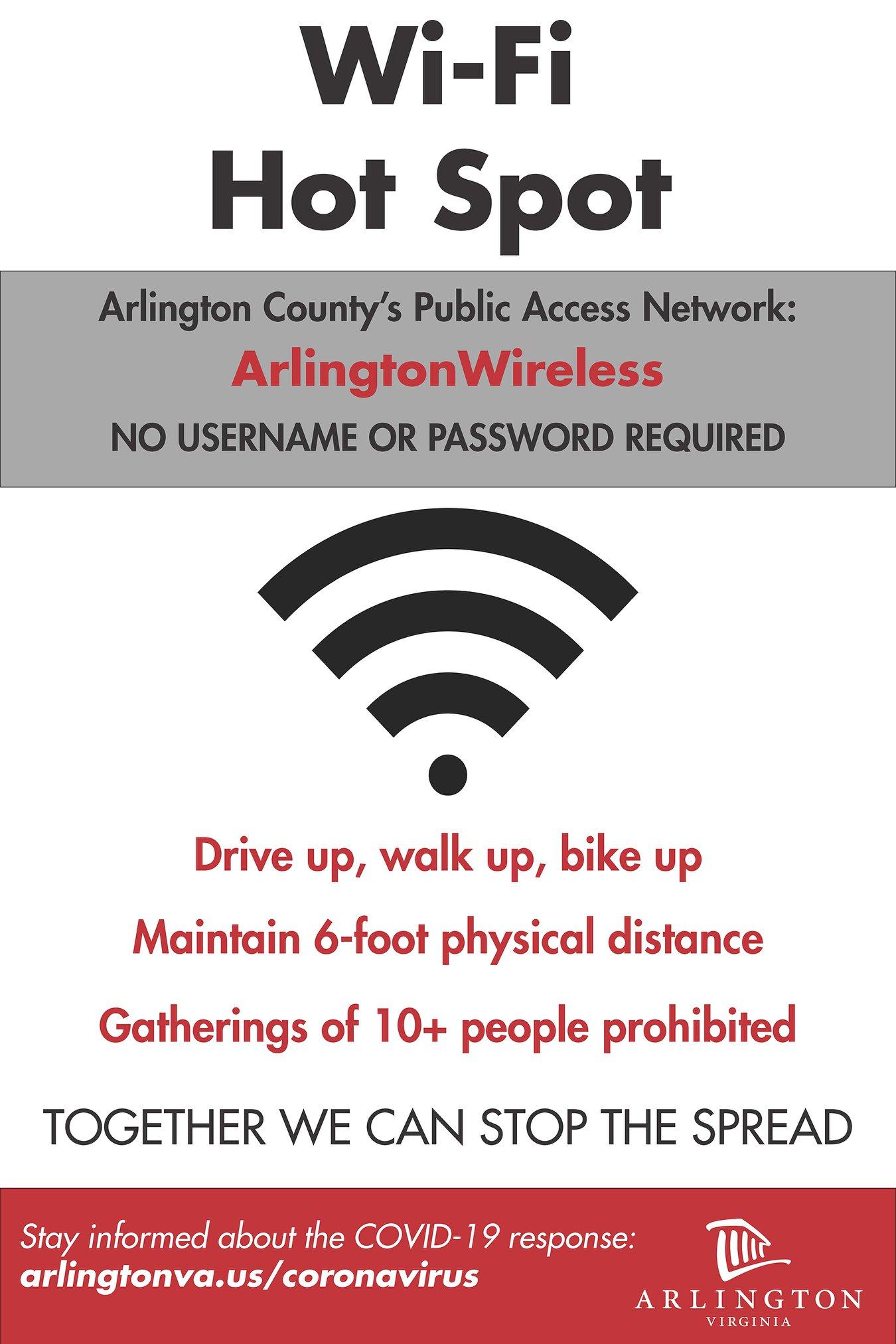 Arlington FREE Wi-Fi/Arlington Wi-Fi GRATIS