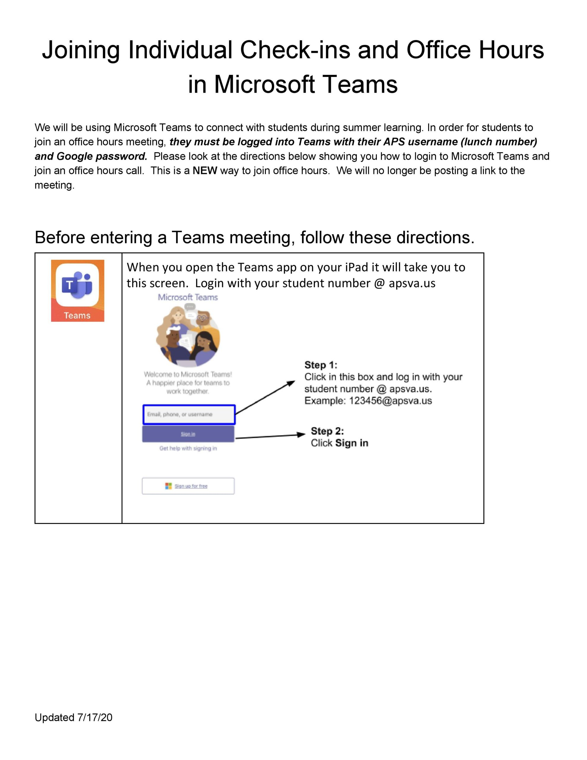 Directions for Joining Check-ins and Office Hours on Microsoft Teams-page-001